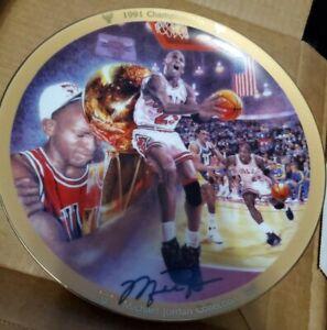 Upper Deck Michael Jordan Chicago Bulls 1991 NBA Championship Collectors Plate