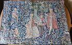Tapestry TAPISSERIES DE HAUTS DE FRANCE  La Dame a L'Orgue 27'x 37 1/4'