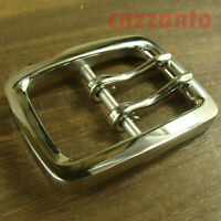 Solid stainless steel Mirror polish Two Tongue Pins belt Buckles buckle Z380