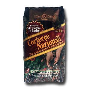 Corteccia di Conifere e Larice Nazionali Sacco 80 LT Pacciamante, Diserbante