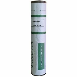 Rose Roofing Shed Roofing Felt + Adhesive | Green Red & Black Mineral Felt