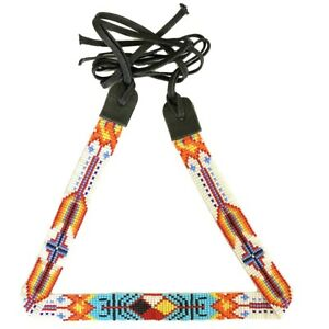Handmade Beaded Native Style Beaded 4 Direction Beadwork Cowboy Hatband H55/3