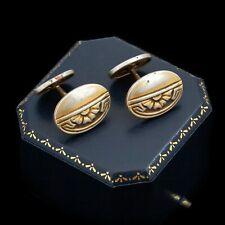 Antique Vintage Nouveau Sterling Silver Gold Jugendstil Mens Cufflink Earrings