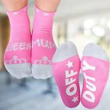 Glittery Queen Mum Off Duty Mother's Day SOCKS  Cotton, One Size, Free Shipping