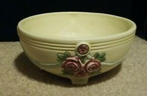 Vintage Weller? Shades of Pink, Blue, green Pottery  Rose Design