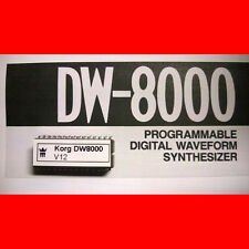 Korg DW8000 firmware OS upgrade: version 12
