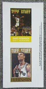 VTG 1991 TUFF STUFF MAGAZINE DAVID ROBINSON POSTCARD SHEET SET NEAR MINT NBA HOF