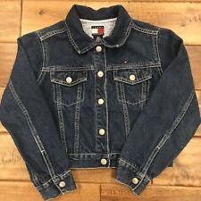 Girls Tommy Hilfiger 100% Cotton Denim Jean Jacket Size Small Blue