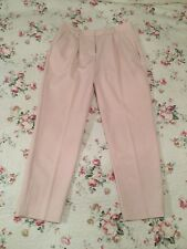 Lovely ❤️ RRP £75 FRENCH CONNECTION Classic Pink Tapered Capri trousers UK 10