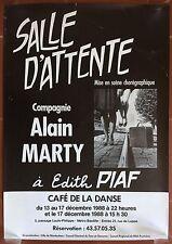 Affiche SALLE D'ATTENTE Café de la Danse COMPAGNIE ALAIN MARTY *
