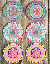 Mandala Mix Neoprene Drink Coasters Set of 6 Our bestselling coasters are back!