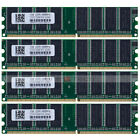 4GB 4x1GB PC3200 DDR400 400Mhz 184pin DIMM Low Density Desktop Memory NON-ECC