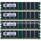 4GB 4x1GB PC3200 DDR400 400Mhz 184pin DIMM Low Density Desktop Memory NON-ECC