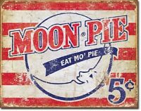 Moon Pie Logo Kitchen Cafe Snack Lunch Home Retro Wall Decor Metal Sign
