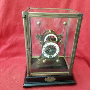 Wonderful Grasshopper Clock With Double Batons & Porcelain Dial--Front Door Case