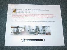 NEW Natural Gas Orifice Conversion Kit Weber Spirit I E-310  FRONT CONTROLS