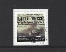 CANADA 2017 SHIP, HALIFAX MARITIME EXPLOSION SELF ADHESIVE FINE USED