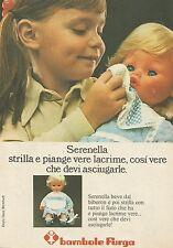 X9716 Bambole FURGA - Serenella strilla e piange  - Pubblicità 1975 - Advertis.