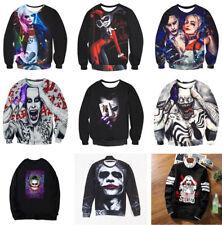 Pullover Sweatershirt Rundhals Joker 3D Print Sweater Hoodie Halloween Karneval