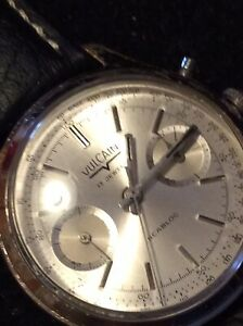 vulcain vintage chronograph watch