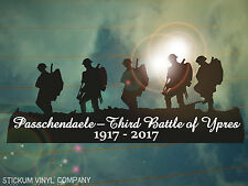 Passchendaele Third Battle of Ypres Centenary Memorial Car Decal/Sticker  *WW1*