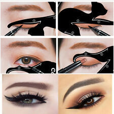 Eye Of Cat Fish Tail Double Wing Eyeliner Stencil Template Makeup Shaper Tools