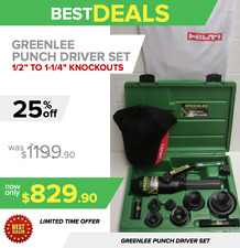 """GREENLEE HYDRAULIC PUNCH DRIVER SET 1/2"""" TO 2"""" CONDUIT SIZE, FAST SHIPPING"""