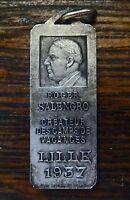 roger salengro médaille en argent créateur des camps de vacance - lille 1937