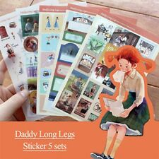 5pcs Story Daddy Long Legs Sticker Decoration Scrapbook Planner Diary Gift Wrap
