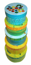 Robert Frederick The Hungry Caterpillar - 5 Pack Round Nesting Storage Boxes