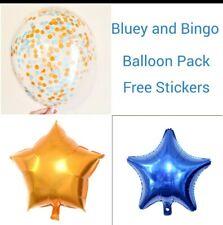3x  BLUEY AND BINGO FOil & CONFETTI BALLOON PACK BIRTHDAY PARTY  1ST Birthday
