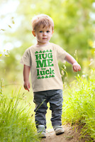 "Baby T-shirt St. Patrick's Day ""Hug Me For Luck"" Lucky Clover Clothes Gift"