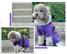 Cute Small Pet Dog Winter Warm Hoodie Coat Cat Puppy Snowflake Christmas Appreal
