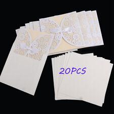 20stk Elfenbein Einladungskarten Hochzeitskarten mit Umschlag aus DE