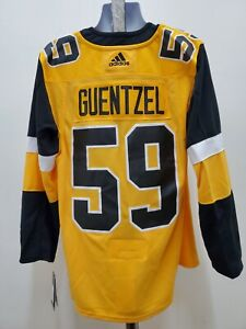 New size (54) Jake Guentzel Pittsburgh Penguins Adidas Mens Jersey Yellow XL