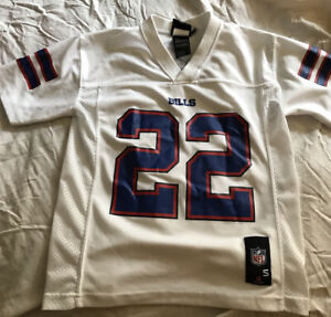 NFL Team Apparel Buffalo Bills Fred Jackson #22 White Jersey Youth Size S (8)