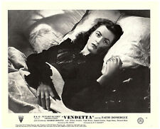 Vendetta original Howard Hughes lobby card Faith Domergue portrait in bed