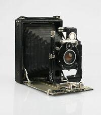 Huttig Toska 12x9cm PIASTRA Pieghevole Fotocamera c.1907 con obiettivo Huttig f1.8/130mm (KZ26)