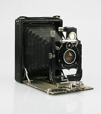 HUTTIG Toska 12x9cm Folding Plate Camera c.1907 w/Huttig f1.8/130mm Lens (KZ26)
