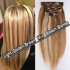 """10""""-24Inches Cheap 100% Clip In Real Remy Human Hair Extensions Full Head BS000"""