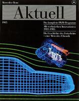 Mercedes Aktuell Prospekt 1985 brochure prospectus broschyr W 126 124 201 129