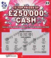 Funny Novelty Gift -£50,000 PRANK ALL WINNING FAKE LOTTERY TICKET SCRATCH CARDS