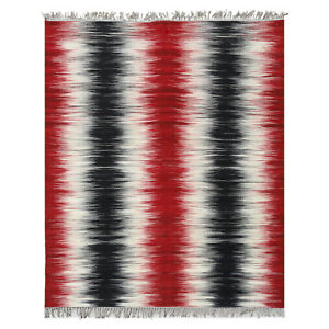 5'x8' Flat Weave Reversible Kilim Pure Wool Hand-Woven Contemporary Colorful Rug