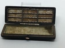 Exceptionally Rare Georgian c1820 Gold Exotic Wood 9 Mourning Hair Toothpick Box