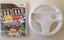Wii M & M Kart Game Bundle Nintendo Kids Cart Racing Game with Wheel