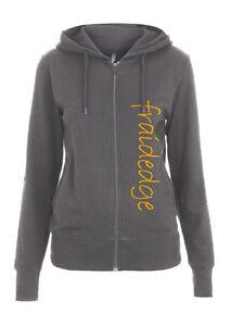 Womens Organic Cotton Zipped Hoodie with fraidedge logo