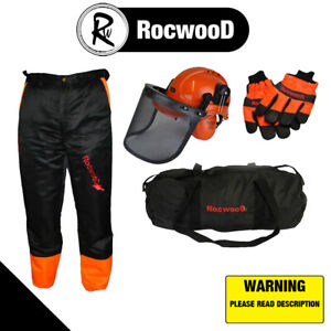 Chainsaw Safety Kit Trousers Type A Gloves And Helmet Ideal For Stihl Users