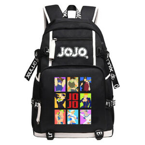 JoJo's Bizarre Adventure Canvas backpack school bags Durable laptop bags Mochila