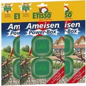 Sparset Etisso Ameisen Power-Box 3 x 2 Köderboxen Ameisenköder Falle