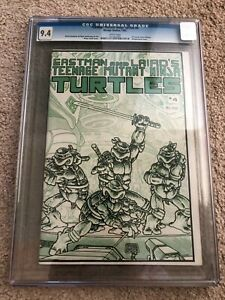 TEENAGE MUTANT NINJA TURTLES #4 - CGC 9.4, 1ST PRINT, SUPER HOT COMIC
